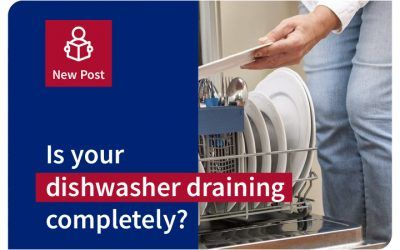 Is your dishwasher draining completely?